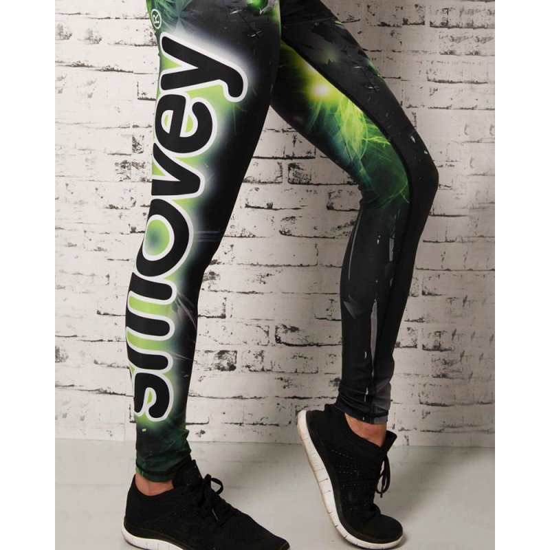 FITNESS-HOSE - Green Crystal Camouflage | Damen | S
